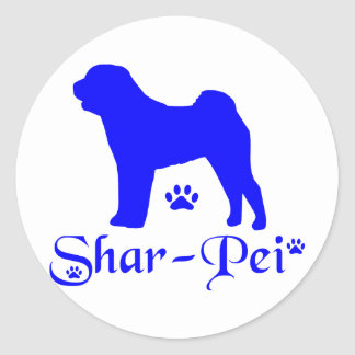 SHAR PEI CLASSIC ROUND STICKER