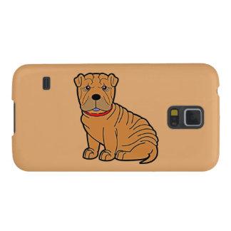 Shar-Pei con el cuello rojo Carcasas De Galaxy S5