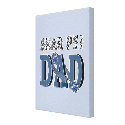 Shar Pei DAD Canvas Print