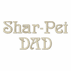 Shar-Pei DAD Gifts embroidered shirt