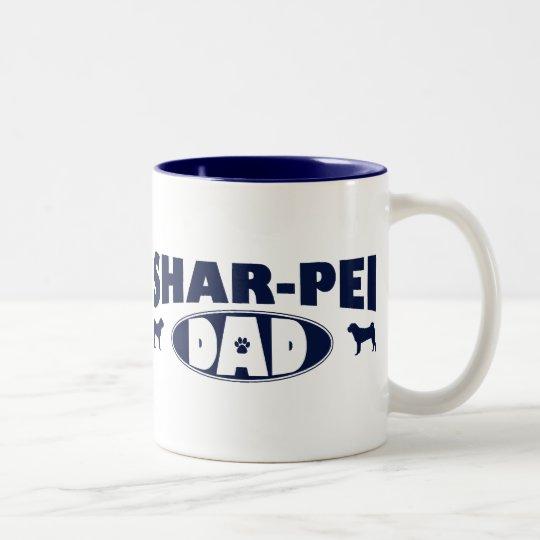 Shar-Pei Dad Two-Tone Coffee Mug