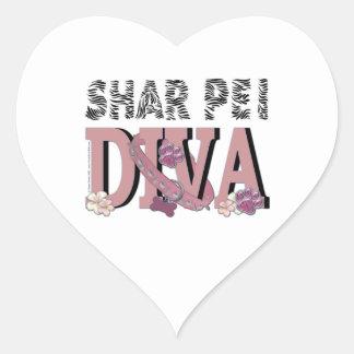 Shar Pei DIVA Heart Sticker