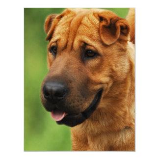 Shar Pei Dog Invitation
