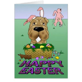 Shar-Pei Happy Easter Card