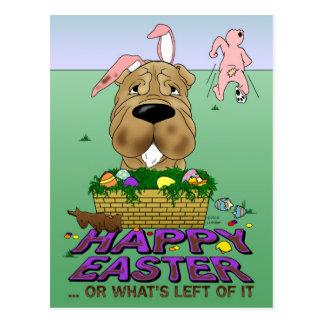 Shar-Pei Happy Easter Postcard