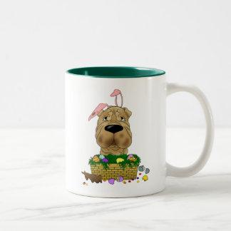 Shar-Pei Happy Easter Two-Tone Coffee Mug