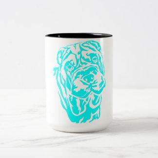 SHAR PEI HEAD Two-Tone COFFEE MUG