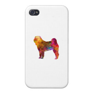 Shar Pei in watercolor iPhone 4/4S Cases