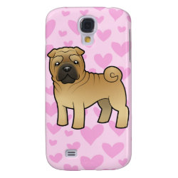 Shar Pei Love (add your own background!) Galaxy S4 Cover