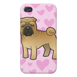 Case Savvy iPhone 4 Matte Finish Case with Shar-Pei Phone Cases design