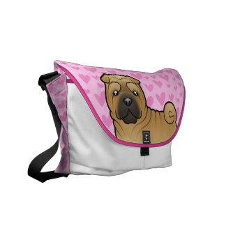 Shar Pei Love Messenger Bag