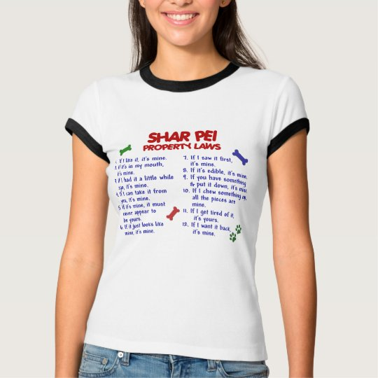 SHAR PEI Property Laws 2 T-Shirt