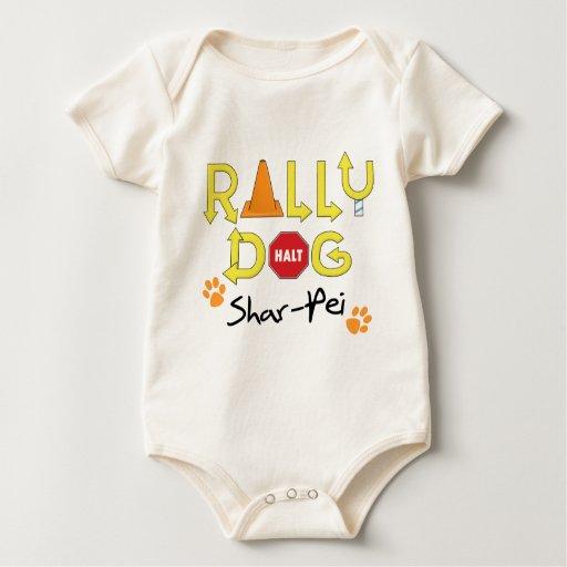 Shar-Pei Rally Dog Baby Bodysuit