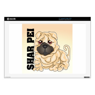 """Shar Pei Decals For 17"""" Laptops"""