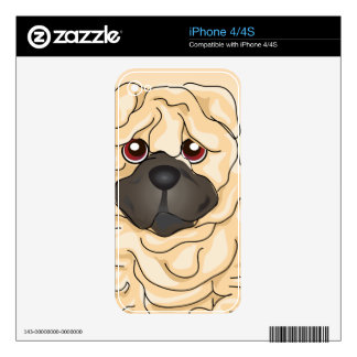 Shar Pei Skin For iPhone 4S