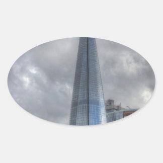 Shard HDR.jpg Oval Sticker