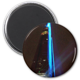 Shard Laser Light Show Opening Night 2 Inch Round Magnet