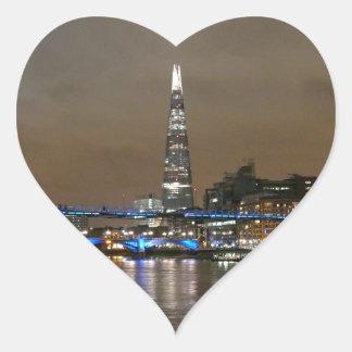 Shard - London Super! Heart Stickers