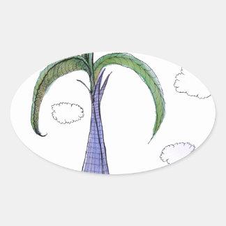 ShardArt 2 by Tony Fernandes Oval Sticker