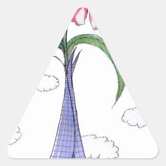 ShardArt 2 by Tony Fernandes Triangle Sticker