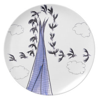 ShardArt 4 by Tony Fernandes Dinner Plate