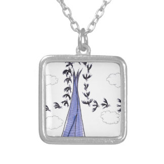 ShardArt 4 by Tony Fernandes Silver Plated Necklace