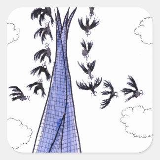 ShardArt 4 by Tony Fernandes Square Sticker