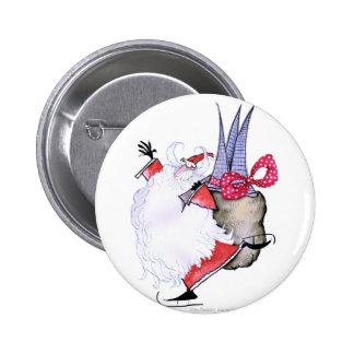 ShardArt Fat Santa by Tony Fernandes Pinback Button