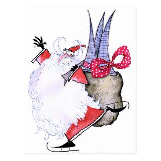ShardArt Fat Santa by Tony Fernandes Postcard