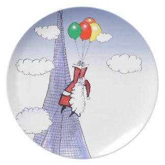 ShardArt Happy Christmas by Tony Fernandes Dinner Plate