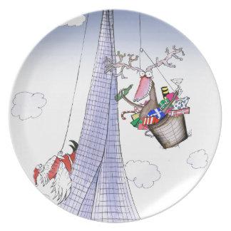 ShardArt Heave-Ho by Tony Fernandes Melamine Plate