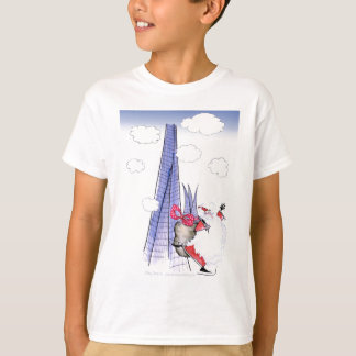 ShardArt Xmas Santa by Tony Fernandes T-Shirt