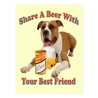 Share a Beer With Boxer Postcard