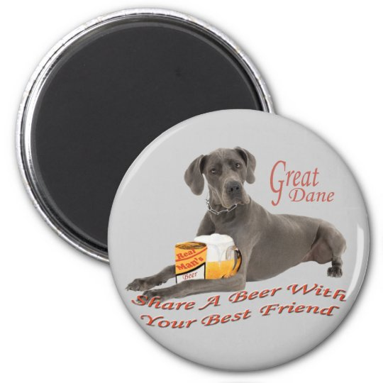 Share A Beer With Great Dane Magnet