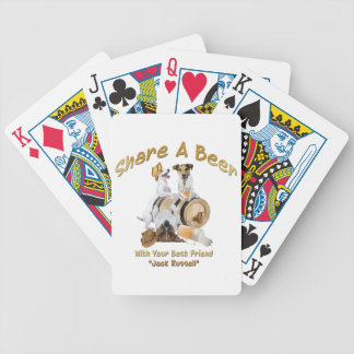 Share A Beer With Your Best Friend Jack Russell Bicycle Playing Cards