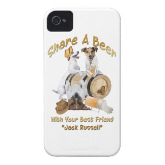 Share A Beer With Your Best Friend Jack Russell iPhone 4 Cover