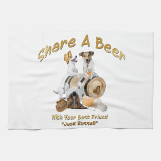 Share A Beer With Your Best Friend Jack Russell Kitchen Towel