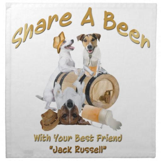 Share A Beer With Your Best Friend Jack Russell Napkins