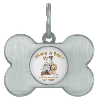 Share A Beer With Your Best Friend Jack Russell Pet ID Tag