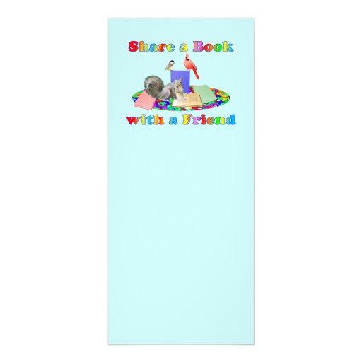 Share a Book Rack Card Design