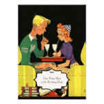 Share a Milk Shake -Vintage  Wedding Invitation