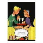 "Share a Milk Shake -Vintage  Wedding Invitation 5"" X 7"" Invitation Card"