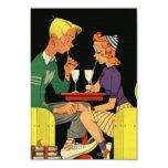 "Share a Milk Shake -Vintage  Wedding Invitation 3.5"" X 5"" Invitation Card"