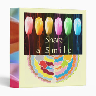 Share a Smile - Flower Bud Pattern  Collection 3 Ring Binder