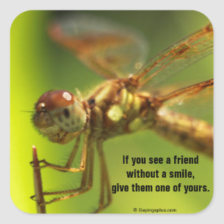 Share a smile square sticker