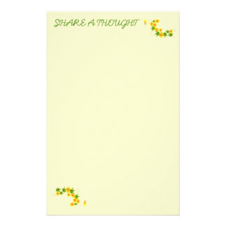 Share A Thought Custom Stationery