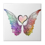 Share - Angel Wings and Heart Tile