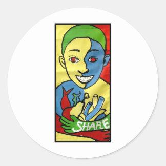 Share Banner Classic Round Sticker