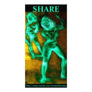 """SHARE"" Custom Fine Art Photocard Card"