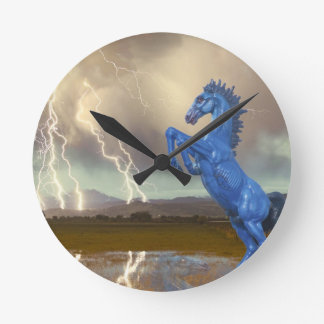 Share Favorite DIA Mustang Bronco Lightning Stor Round Clock